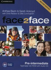 face2face Pre-intermediate Testmaker CD-ROM and Audio CD, Bazin Anthea, Ackroyd Sarah